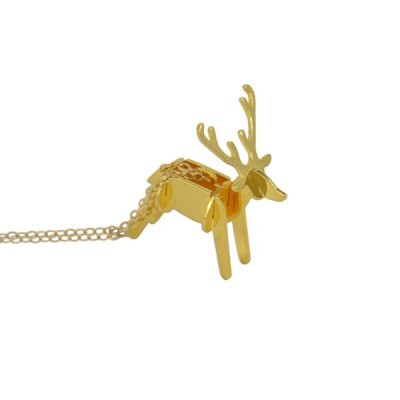 deer necklace 3D