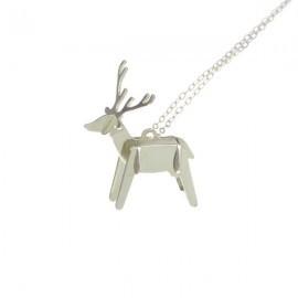 deer necklace silver