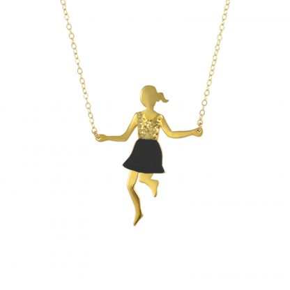 jump rope player glitter top black skirt gold big