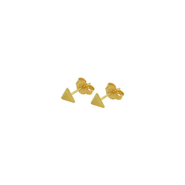 mini triangle earrings gold