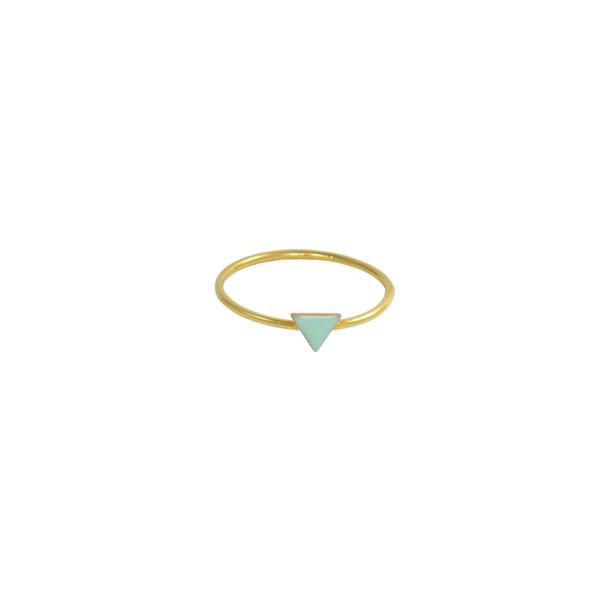 mini triangle ring gold mint