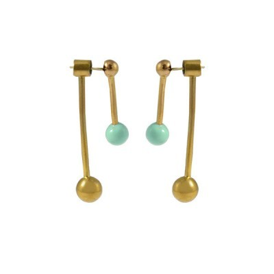 sunmoon earrings gold mint