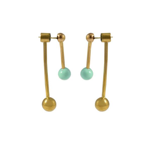 sunmoon earrings gold mint