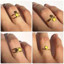 how to wear the Celeste rings