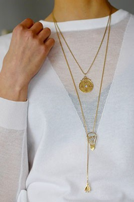 electric love necklace in gold