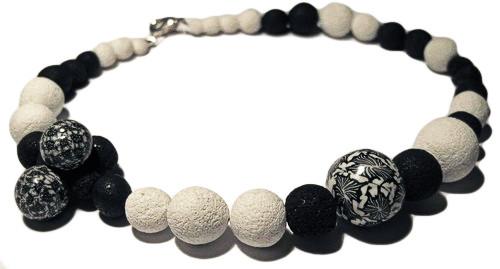 millefiori polymer clay necklace