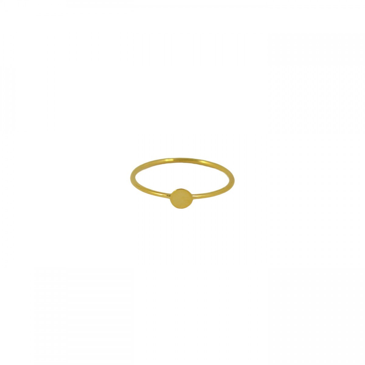 plain gold confetti ring