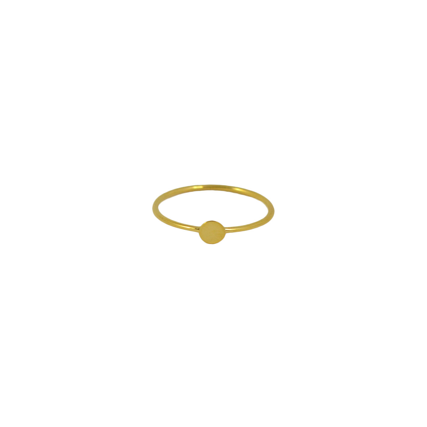 plain gold confetti ring