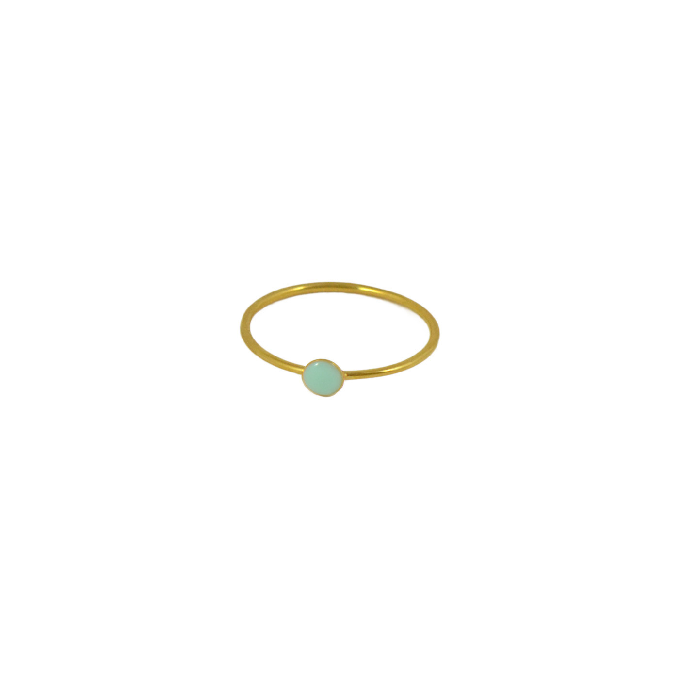 gold and mint confetti ring