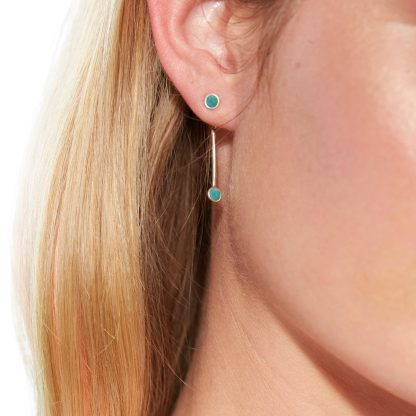 opal ear jacket silver on model