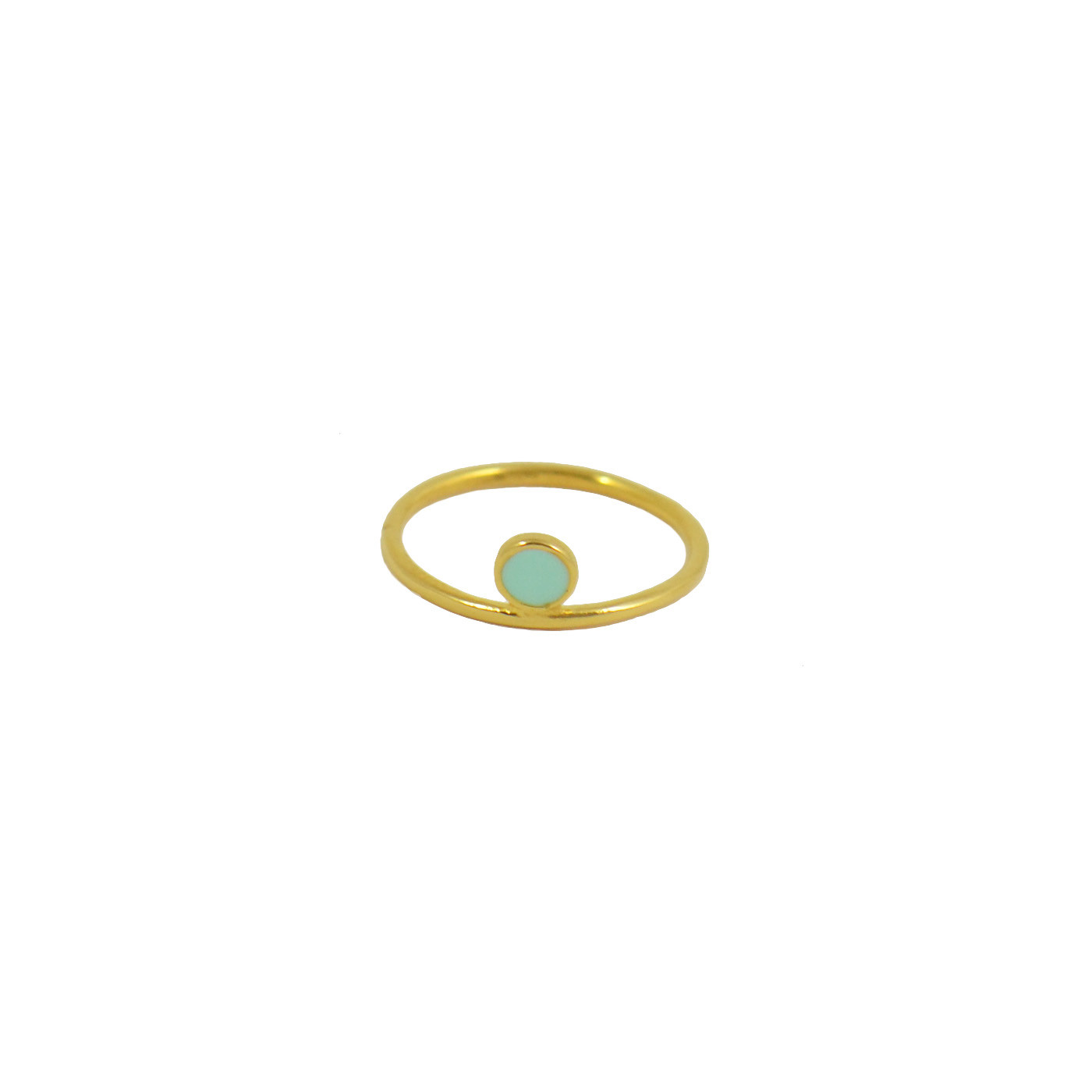 gold and mint Celeste ring