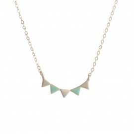 bunting necklace silver mint