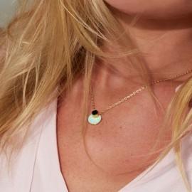 eclipse necklace enamel gold worn