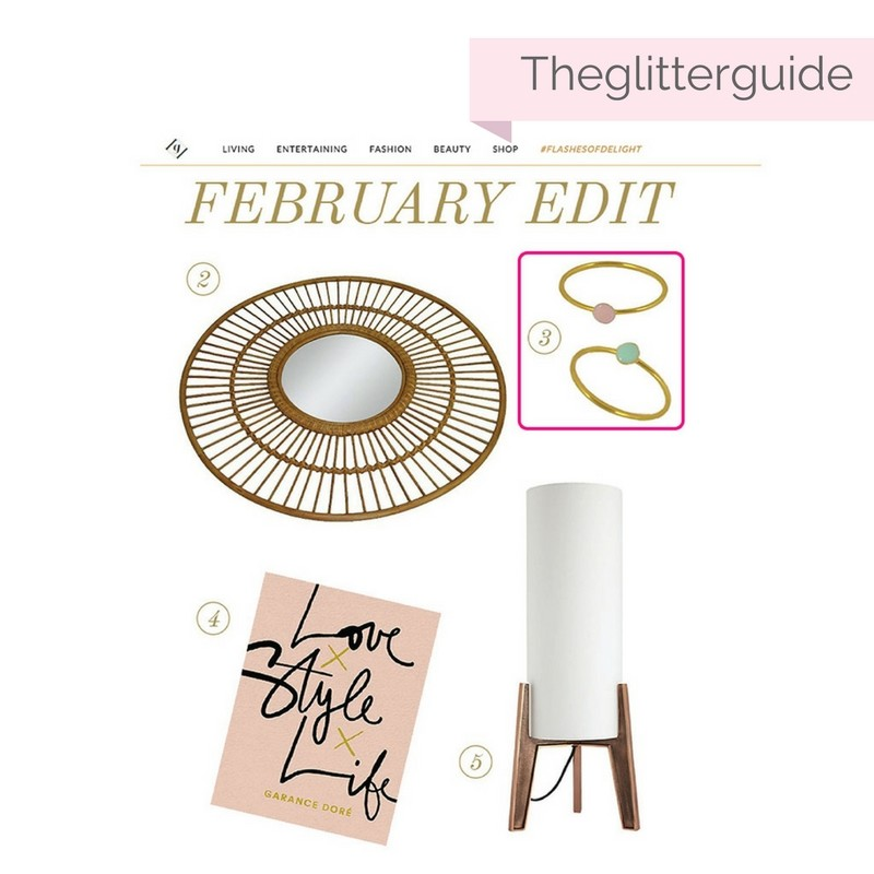 february round up by Glitter guide including confetti rings by Virginie Millefiori