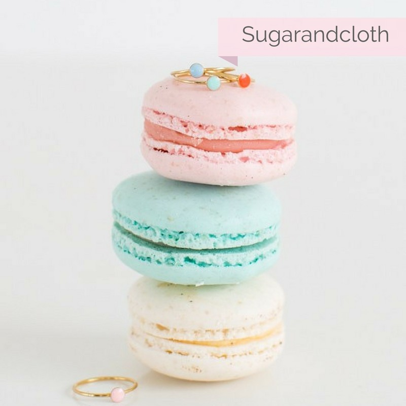 confetti rings on macarons