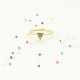 festive triangle ring