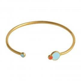 eclipse cuff gold pastel blue coral