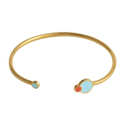 eclipse cuff gold pastel blue coral