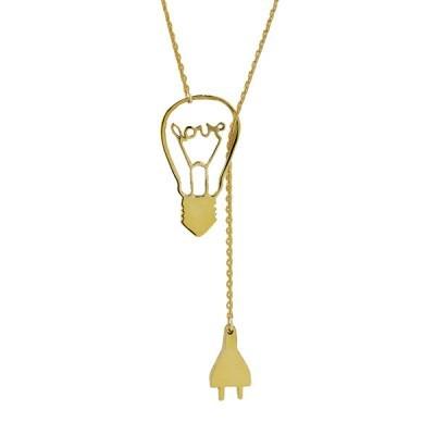 eleclove necklace gold