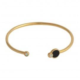 fusion cuff gold opal black