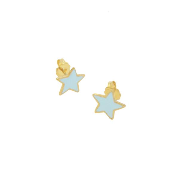 star studs pastel blue