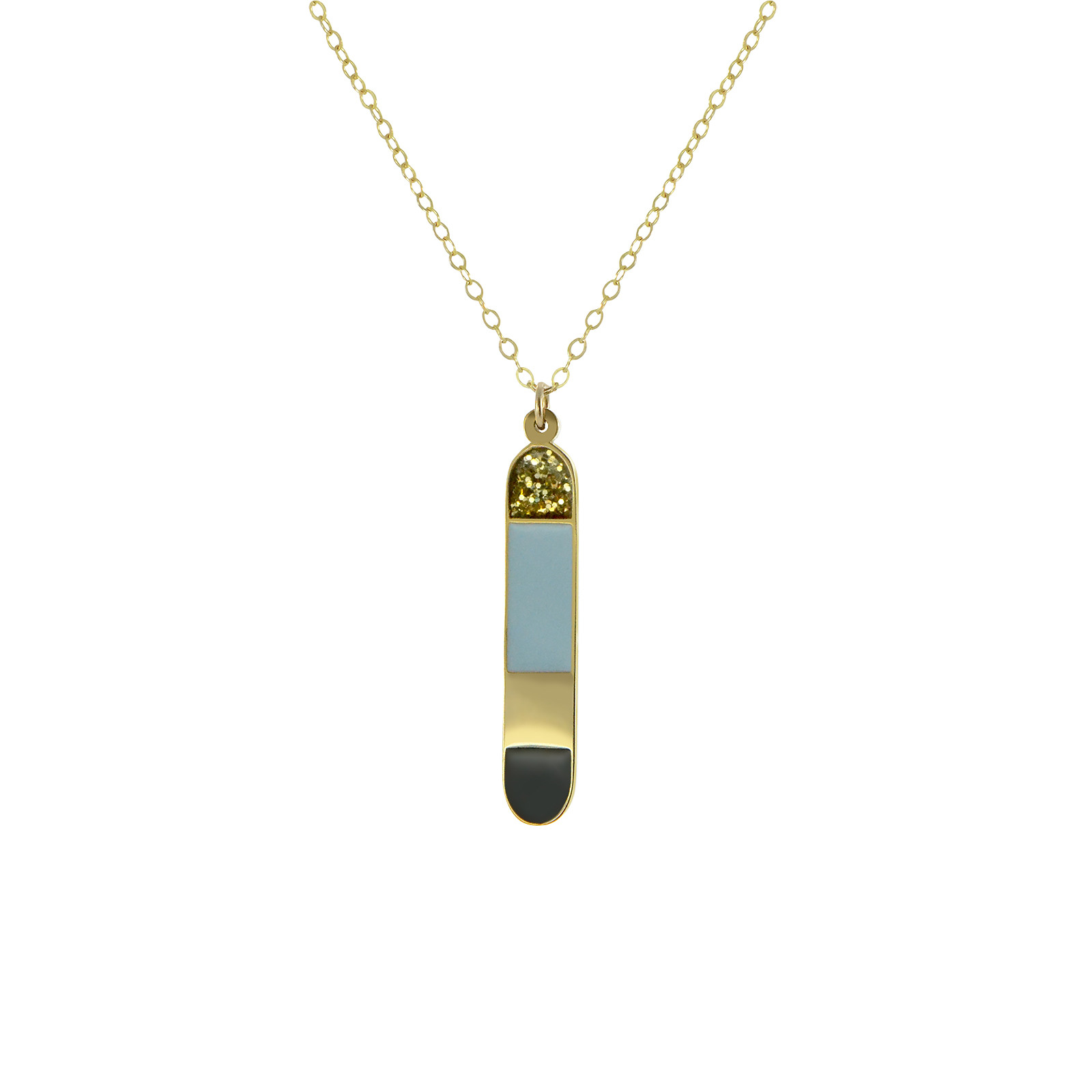 Fez gold cartouche necklace