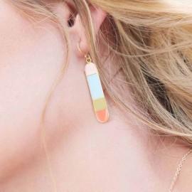 bliss long earrings worn