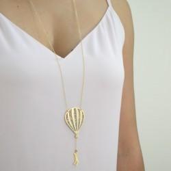 hot air balloon glitter worn