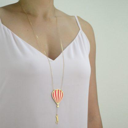 hot air balloon gold worn