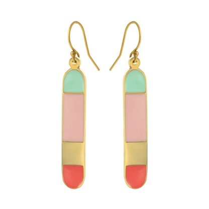 Santa Cruz gold earrings