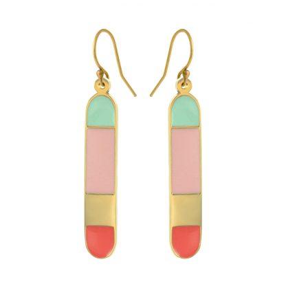 Santa Cruz gold earrings