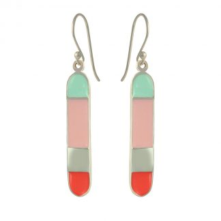 Santa Cruz silver earrings