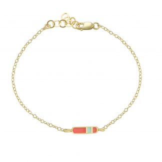 mini Bliss bracelet gold coral mint
