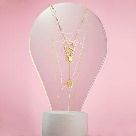 shine on light bulb prop light pink