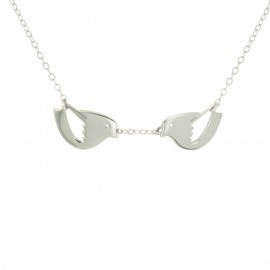 silver lovebirds necklace