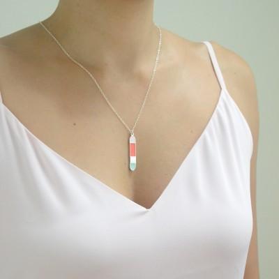silver vert bliss neck coral mint pastel pink worn