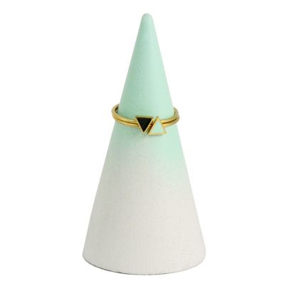 stacking rings gold triangles