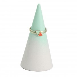 stacked triangle rings silver