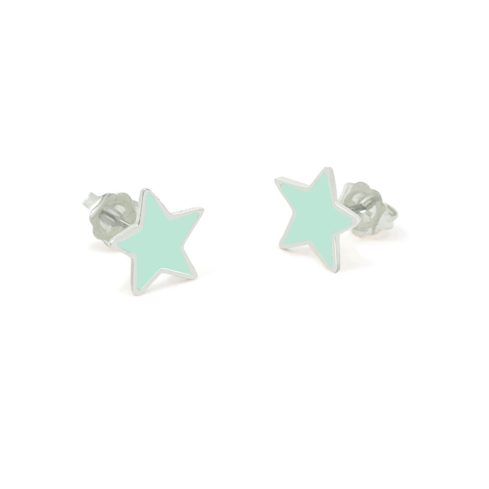 star studs silver mint