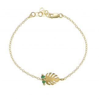 monstera bracelet