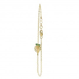 mini-monstera-bracelet-gold-hanging