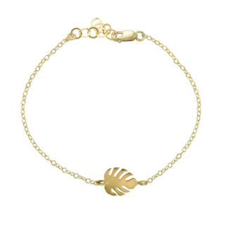 monstera bracelet in 14k gold filled