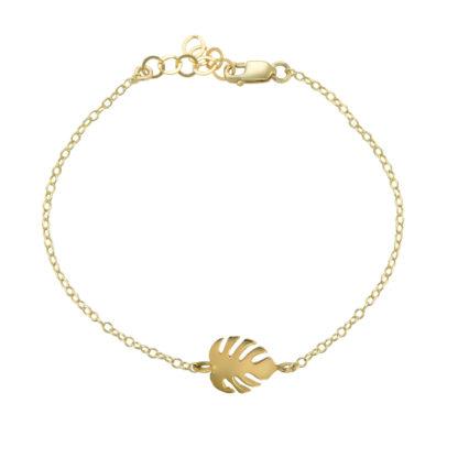 monstera bracelet in 14k gold filled
