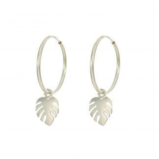 monstera-hoops-silver