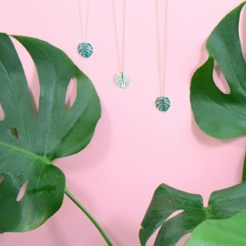 monstera necklaces
