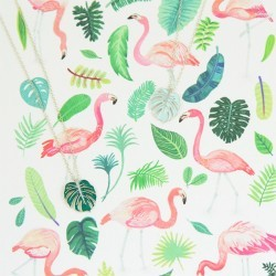 monstera necklaces flamingos