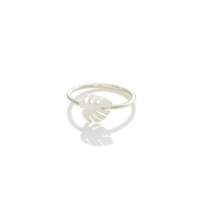 monstera-ring-silver