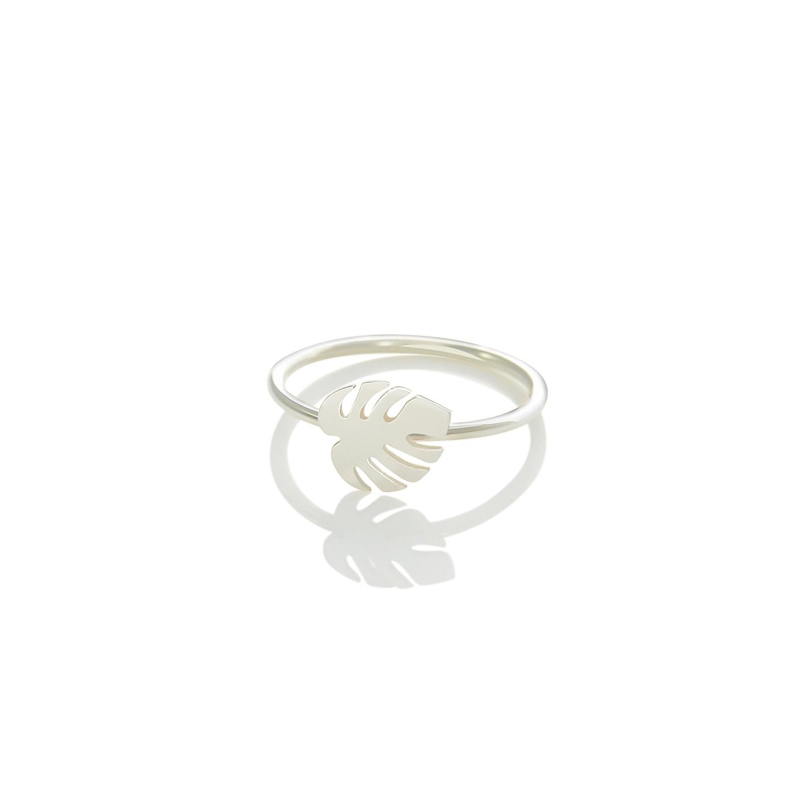 monstera-ring-silver