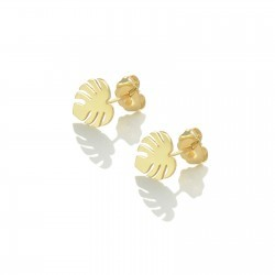 monstera-studs-gold