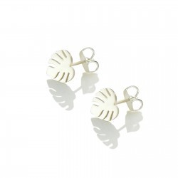 monstera-studs-silver